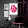 Modern Abstract Pink Gems Artwork