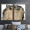 Modern Abstract Brown Gems Art Prints (2)
