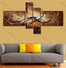 split panel painting Brown Base