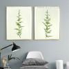 Minimalist Green Ferns Plant Life Poster Prints
