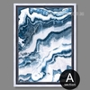 Blue and White Abstract Marble Art