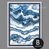 Blue and White Abstract Marble Digital Art