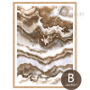 Brown and White Abstract Marble Painting Wall Art Prints