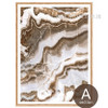 Brown and White Abstract Marble Painting Canvas Prints