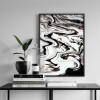 Black Abstract Marble Watercolor Art