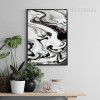 Black Watercolor Pattern Abstract Marble Canvas Print