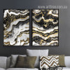 Modern Abstract Black Golden Canvas Prints (2)