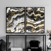 Modern Abstract Black Golden Canvas Prints