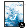 Watersplash Pattern Blue Watercolor Art