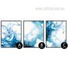Watersplash Pattern Blue Watercolor Prints