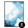 Watersplash Pattern Blue Watercolor Canvas Art