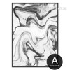 Black Watercolor Pattern Marble Canvas Artwork