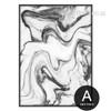 Black Watercolor Pattern Marble Canvas Artwork