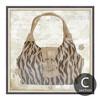 Leopard Pattern Bag Design Canvas Print