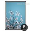 White Magnolia Floral Style Botanical Print