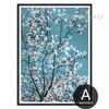 White Magnolia Flowers Style Botanical Print