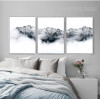 Snow Mountains Style Black and White Pictures Print (3)