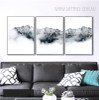 Snow Mountains Style Black and White Pictures Print (2)
