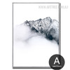 Snow Mountain Style Black and White Art