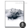 Snow Mountain Style Black and White Wall Art