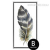 Blue and Grey Bird Feathers Canvas Print