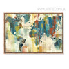 American Style Multicolor World Map Art