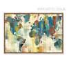 American Style Multicolor World Map Art