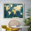 Blue Vintage World Map Art (2)