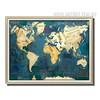Blue Vintage World Map Canvas Art