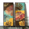 Oversized Multicolor Monstera Leaves Canvas Prints