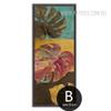 Oversized Multicolor Monstera Leaves Canvas Art