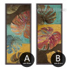 Oversized Multicolor Monstera Leaves Canvas Prints (4)