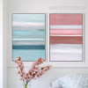 Modern Blue Pink Color Shot Canvas Prints (2)