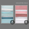 Modern Blue Pink Color Shot Canvas Prints (4)