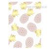 Purple Golden Pineapple Fruit Canvas Print