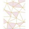 Purple Geometric Lines Canvas Art