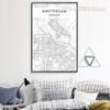 Amsterdam Nederland Map Canvas Art