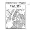 New York City Map Black and White Art