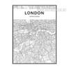 London City Map Black and White Art