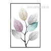 Abstract Watercolor Leaf Art