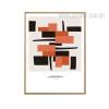 Abstract Geometric Black Brown Canvas Art