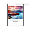 Landscape Boat Quote Canvas Wall Art