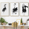 Black Dress Girls Fashion Canvas Prints (2)