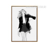 Black Dress Girl Fashion Canvas Print