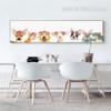 Cute Deer, Dog, Cat, Sheep Animals Canvas Art