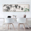 Black and White Bamboo Tree and Birds Canvas Print