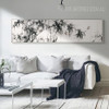 Black and White Bamboo Tree and Birds Canvas Print (2)