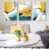 Abstract Yellow Base Wall Art (2)