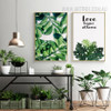 Love Begins At Home Tropical Green Leaf Art