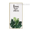 Love Begins At Home Tropical Green Leaf Canvas Art